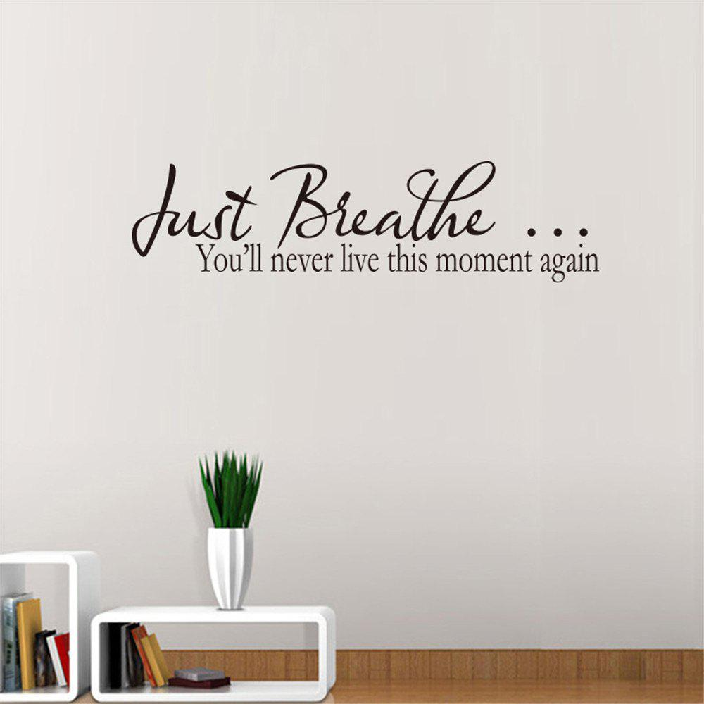 Just Breathe Art Vinyl Mural Home Decor Stickers muraux