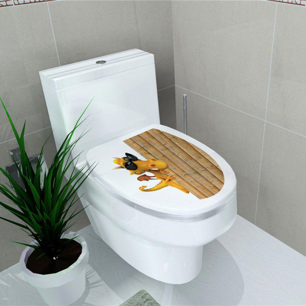 Autocollant de toilette Animal World Flamingo Autocollant de décoration pour la maison