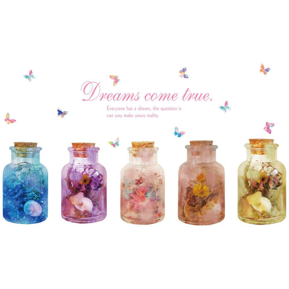 Store Color wishBottles Butterfly Removable Stickers Wall Stickers Home Decorations