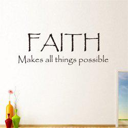 Faith Make All Things Possible Art Vinyl Mural Home Room Decor Wall Stickers -