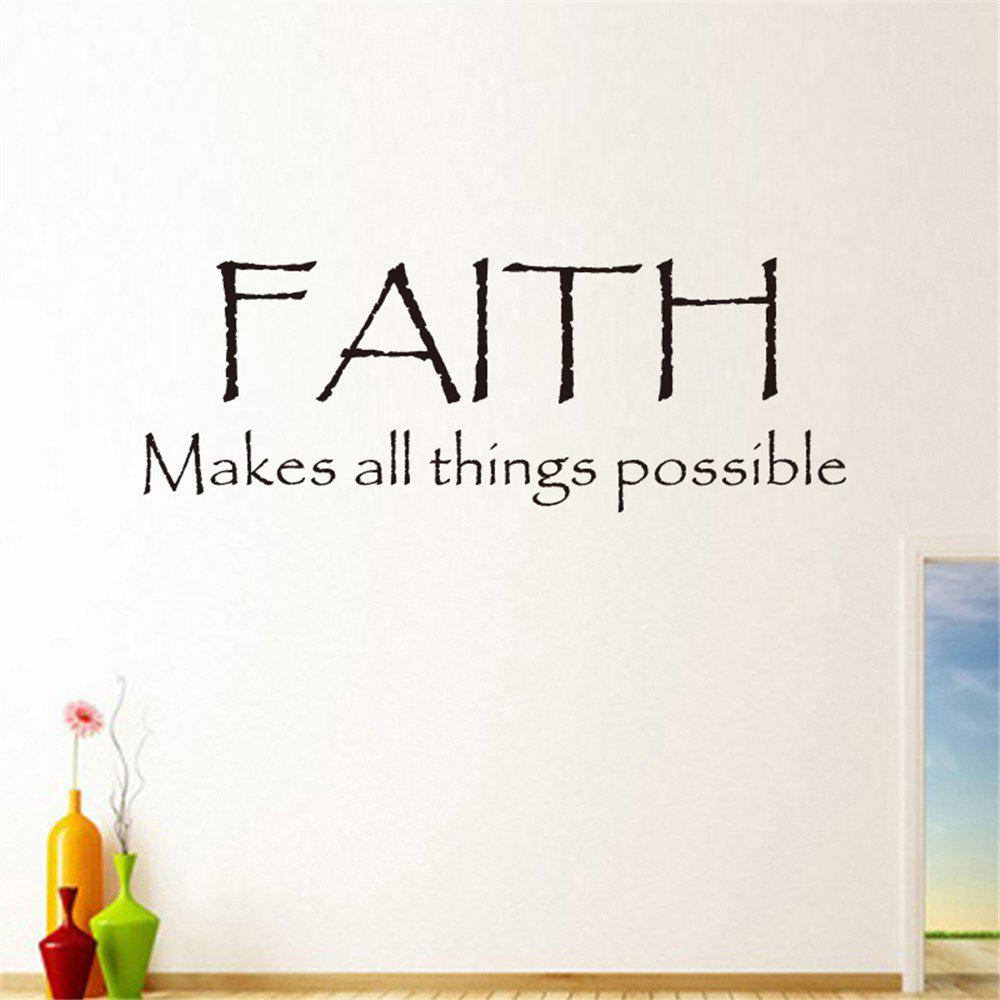 Cheap Faith Make All Things Possible Art Vinyl Mural Home Room Decor Wall Stickers