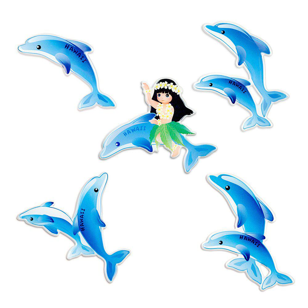 Outfits Blue Dolphin Series Cute Silicone Fridge Magnet