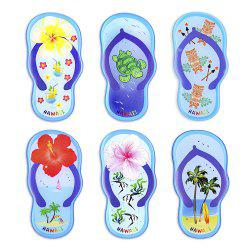 Blue Slippers Series 6 Silicone Magnetic Fridge Magnets -