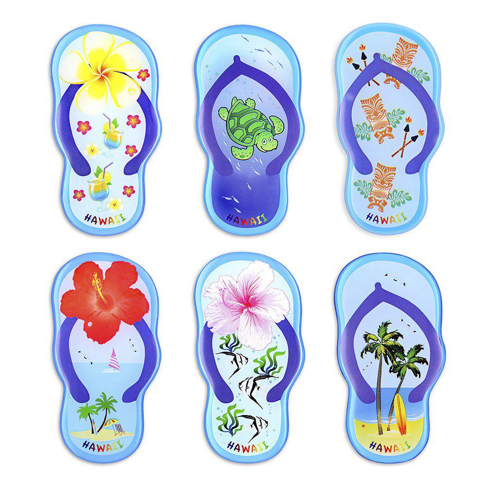 Fashion Blue Slippers Series 6 Silicone Magnetic Fridge Magnets
