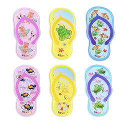 Mixed Color Slippers Series 6 Silicone Magnetic Refrigerator Stickers -