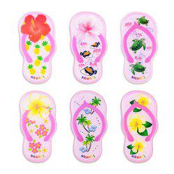 Pink Slippers Series 6 Silicone Magnetic Fridge Magnets -