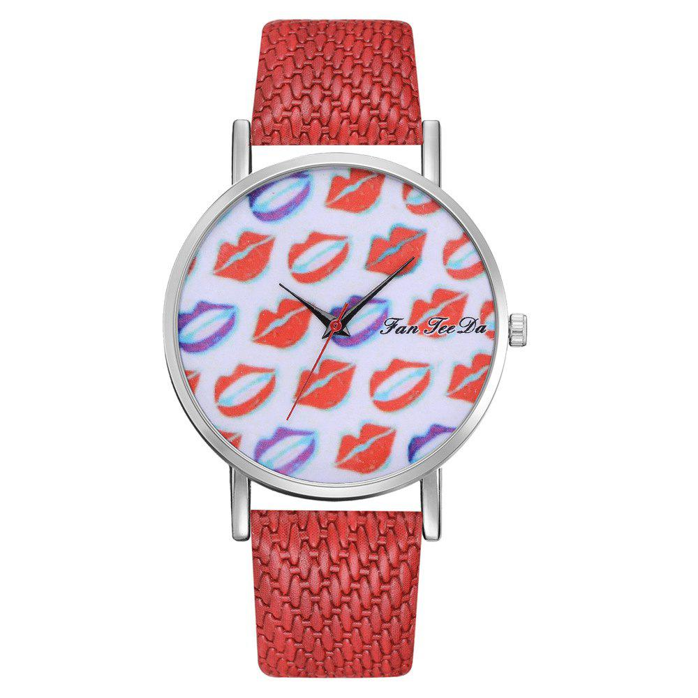 Fashion Ms. Sexy Lips Mirror Watch Creative Quartz Watches Sell Like Hot Cakes