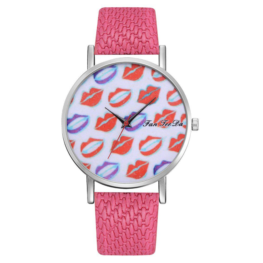 Hot Ms. Sexy Lips Mirror Watch Creative Quartz Watches Sell Like Hot Cakes