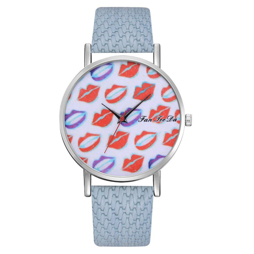 Fancy Ms. Sexy Lips Mirror Watch Creative Quartz Watches Sell Like Hot Cakes