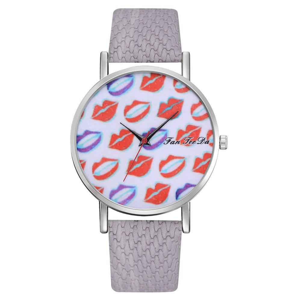 Sale Ms. Sexy Lips Mirror Watch Creative Quartz Watches Sell Like Hot Cakes