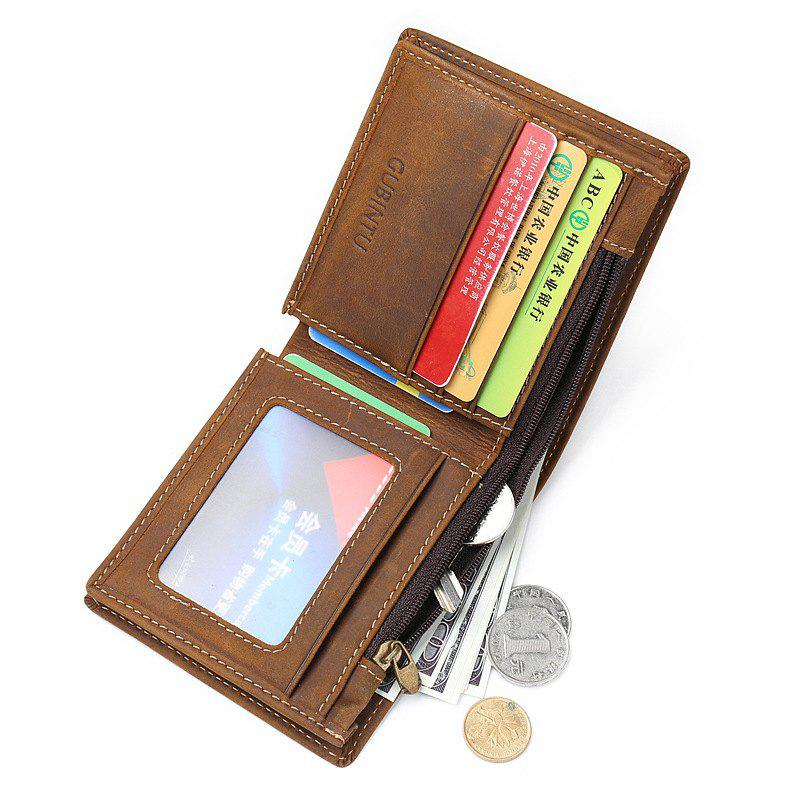 Outfits Wallet Small Vintage Crazy Horse Leather Short Purse Bifold