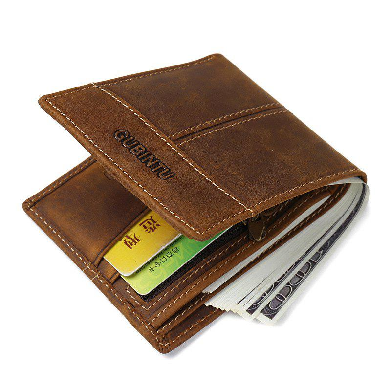 Store Men Wallet with Coin Bag Zipper Small Money Purses Dollar Slim Purse Money Clip