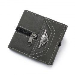 Wallet Men Male With Coin Purse Pockets Slim Fashion Mini Wallet Zipper Clamp -