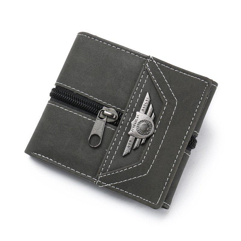 Chic Wallet Men Male With Coin Purse Pockets Slim Fashion Mini Wallet Zipper Clamp