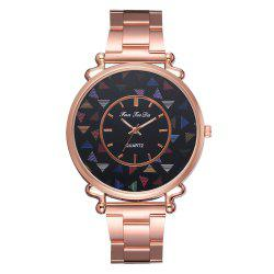 The New Brand Watch Hot Style Fashion Lady Rose Gold Steel Band Watch -