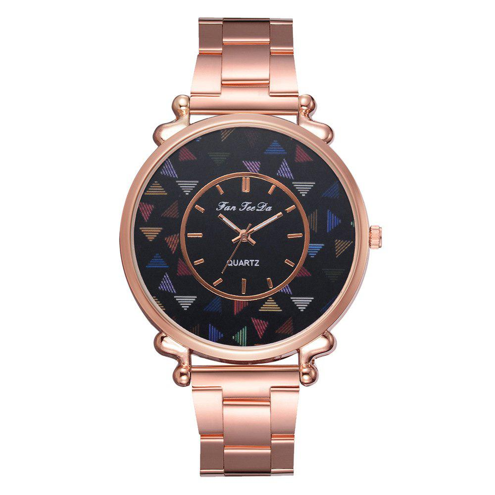 Unique The New Brand Watch Hot Style Fashion Lady Rose Gold Steel Band Watch