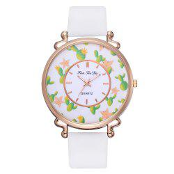 Rural Wind Students Watch The Creative Personality Smooth Belt Quartz Watches -