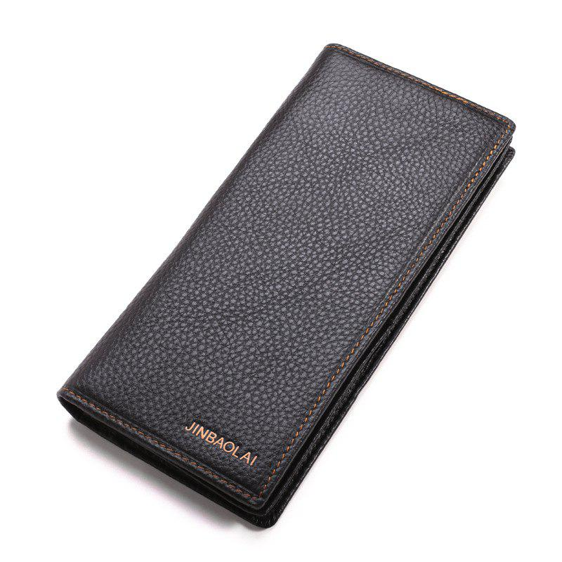 Outfits Men Wallet Leather Long Wallet Clutch Male Money Purse ID Card Holder Carteira