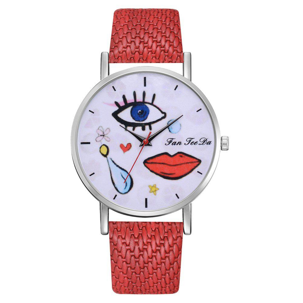 Shops Funky Graffiti Watch Students Eyes Mouth Mirror Wrist Watch Brands