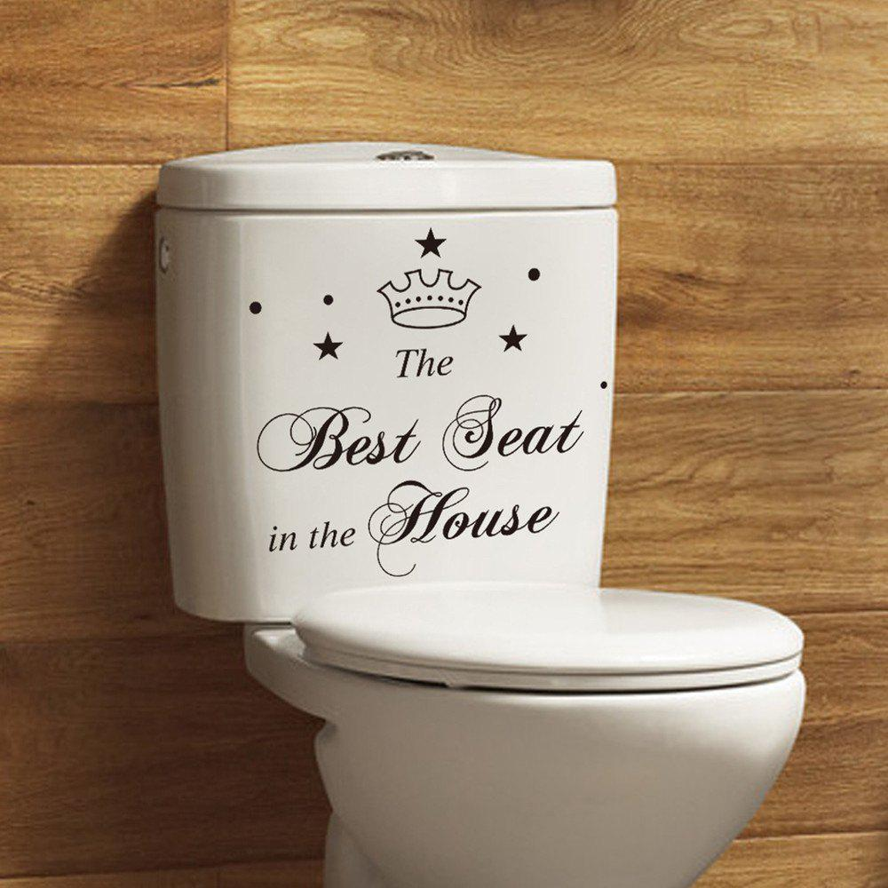 Outfit 2PCS Bathroom DIY Toilet Sticker Waterproof Removable
