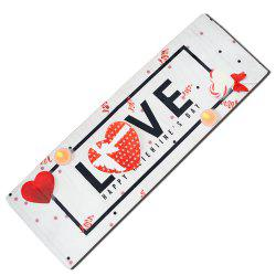 Valentine'S Day Long LOVE Anti-Slip Mat -
