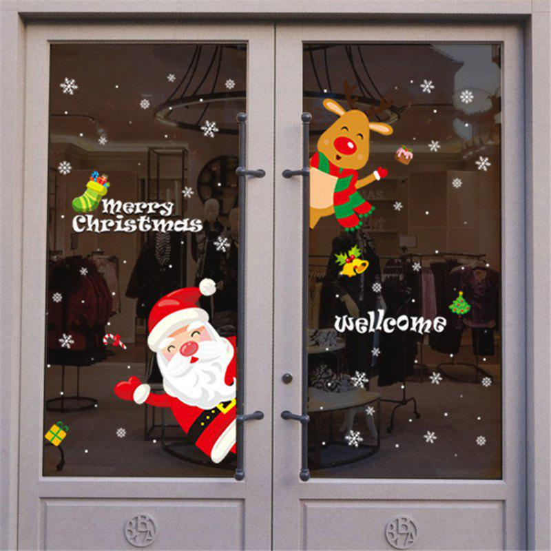 Affordable Santa Claus Door and Window Stickers