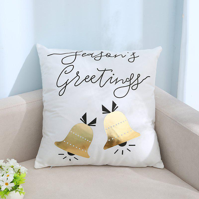 Unique Christmas Gilded Bell Pattern Pillowcase