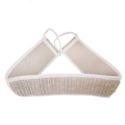 Pure Natural Cotton and Linen Long Strip Pull Back Bath Towel -