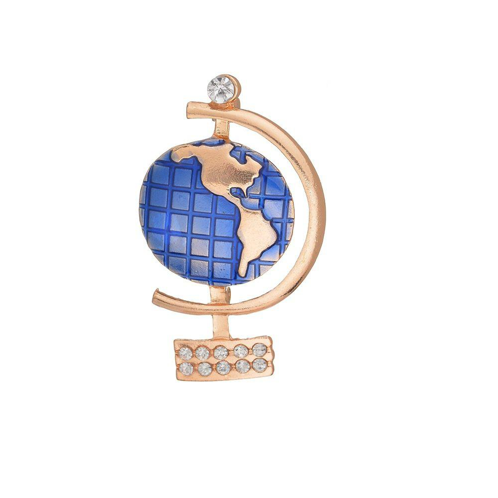 Outfit Fashion Creative Globe Alloy Brooch