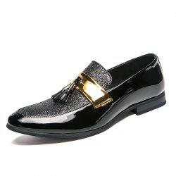 Men's Leather Shoes Fashion Nightclub Pointed Plus Size Shoes -