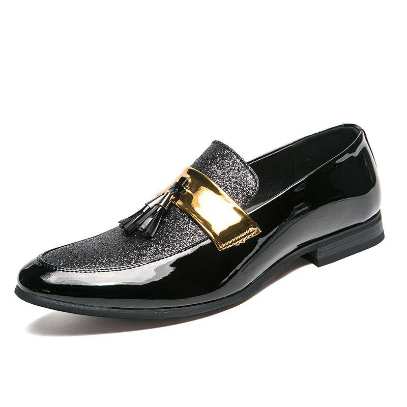 Shop Men's Leather Shoes Fashion Nightclub Pointed Plus Size Shoes