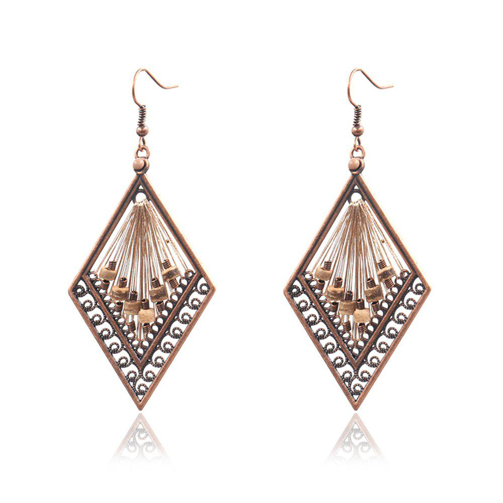Fashion Fashion New Exaggerated Diamond Hand Made Rice Beads Drop Earrings