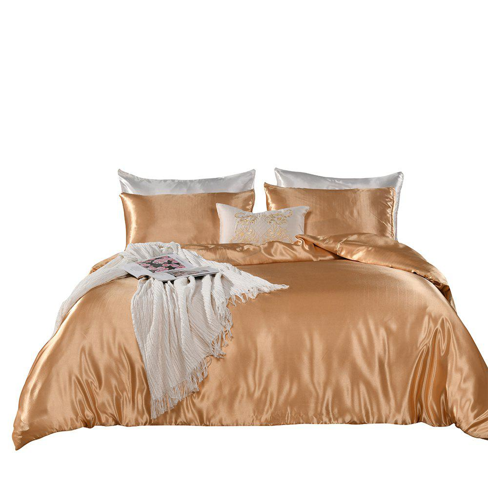 Outfits JS Home Textiles Artificial Silk Bedding Duvet Cover Set Euro-American Style