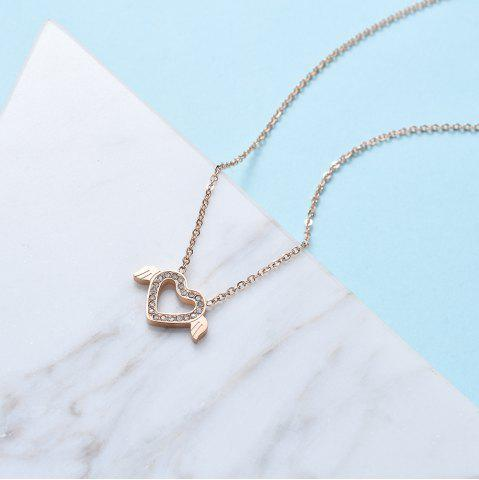 Women'S Fashion Allergy-Proof Heart-Shaped Wing Pendant Titanium Necklace