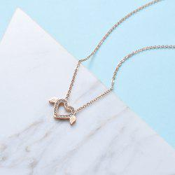 Women'S Fashion Allergy-Proof Heart-Shaped Wing Pendant Titanium Necklace -