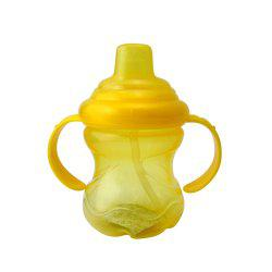 250ML Baby Sippy Cup Double Handle Infant Drinking Training Straw Bottle -