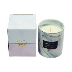 Marble Pattern Ceramic Scented Candle Cup European Home Decorations Wedding Gift -