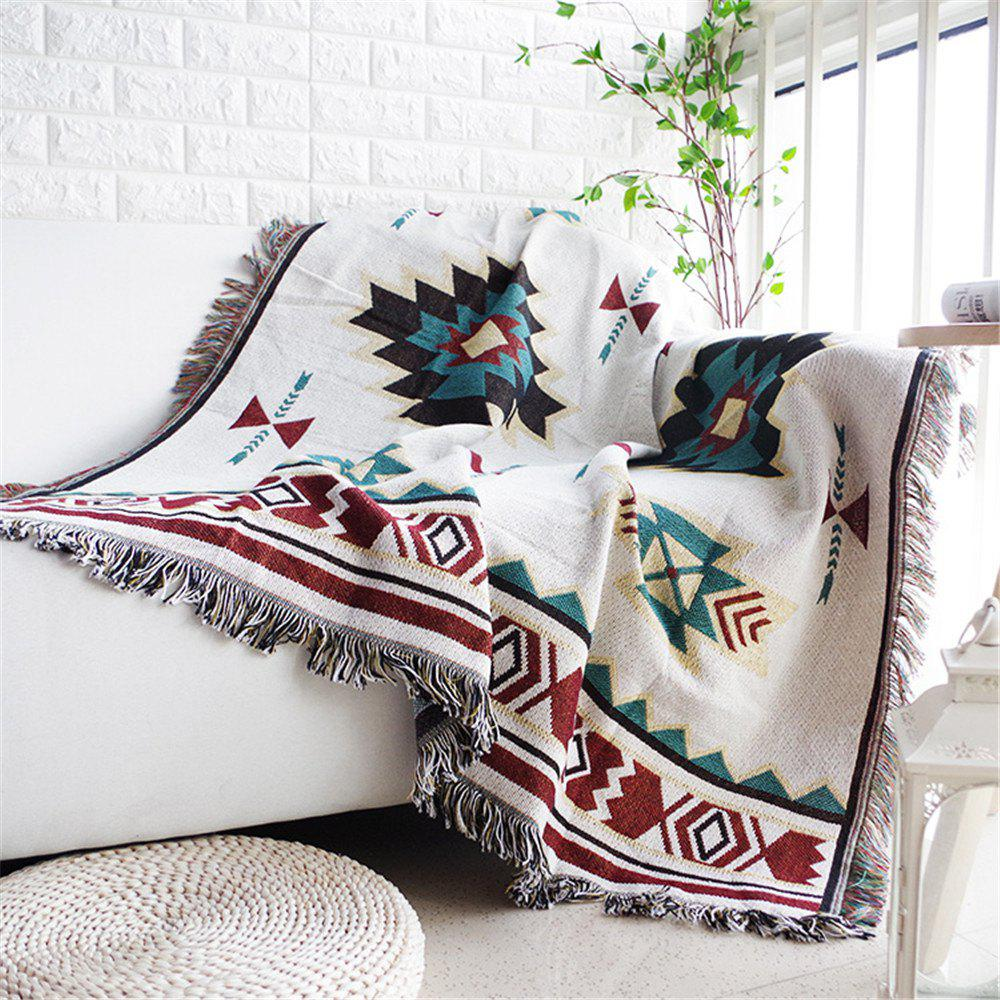 Outfits European Style Throw Blanket Sofa Decorative Non- Slipcover Cobertor on Sofa Bed