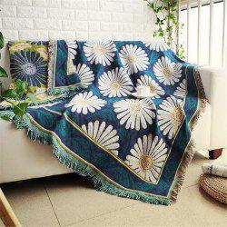 Blooming Daisy Pattern Blanket Sofa Decorative Slipcover Travel Blanket -