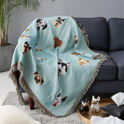 Lovely Dogs Pattern Blanket sofa decorative slipcover Non-slip Stitching Blanket -