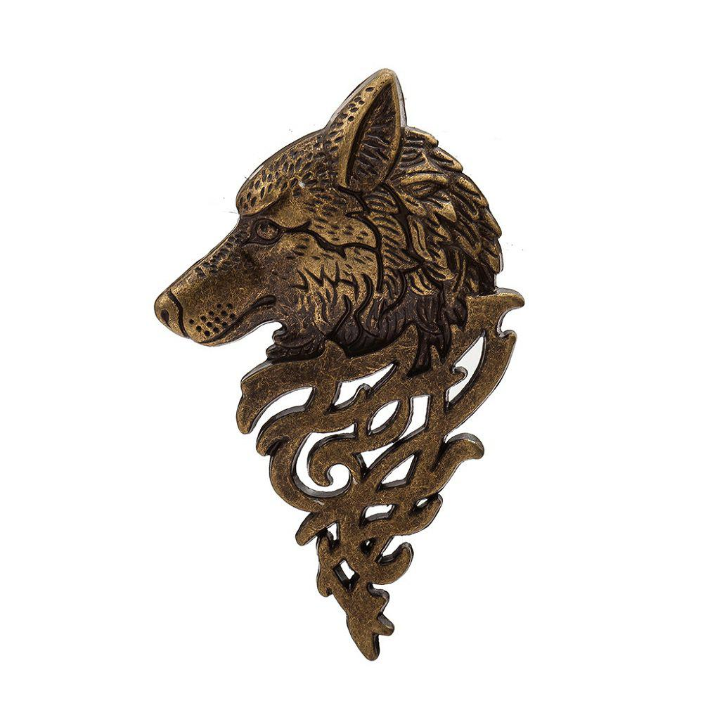 Discount Jewelry Personality Fashion Mens Suit Collar Pin Buckle Domineering Wolf