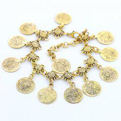 Fashion with Style Metal Coin Tassel Ankletc -