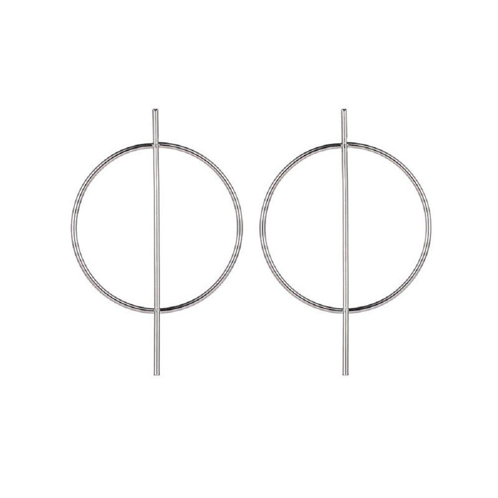 Cheap Personality Exaggerated Big Circle Gemetric Earrings Nightclub Fashion Tide
