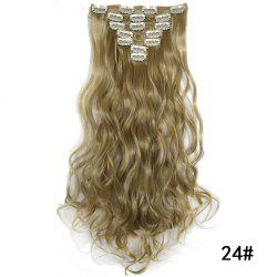 Synthetic Hair Fiber 50CM Body Wave Clip in Hair Extensions -