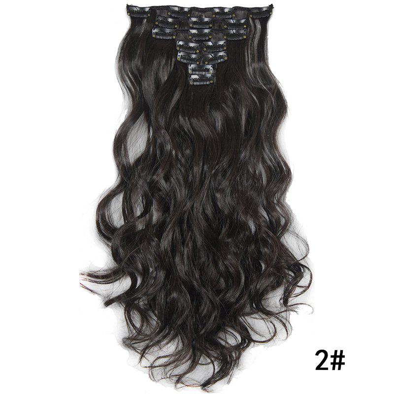 Hot Synthetic Hair Fiber 50CM Body Wave Clip in Hair Extensions