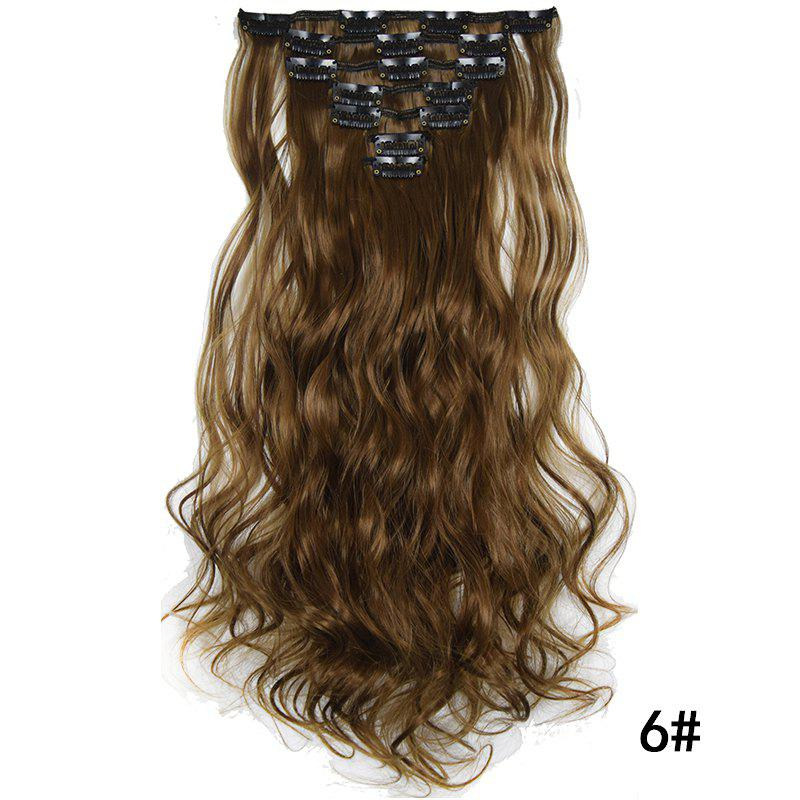 Best Synthetic Hair Fiber 50CM Body Wave Clip in Hair Extensions