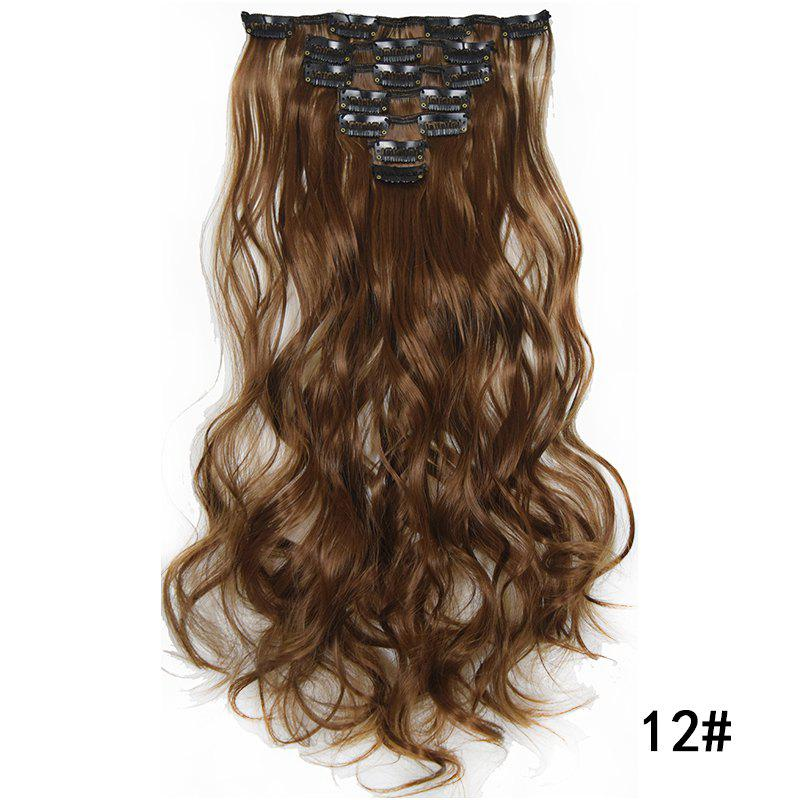 Online Synthetic Hair Fiber 50CM Body Wave Clip in Hair Extensions