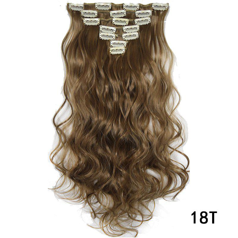 New Synthetic Hair Fiber 50CM Body Wave Clip in Hair Extensions