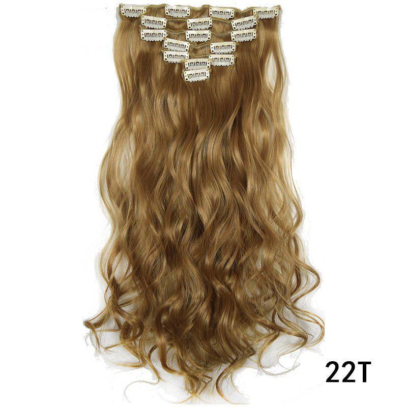 Sale Synthetic Hair Fiber 50CM Body Wave Clip in Hair Extensions