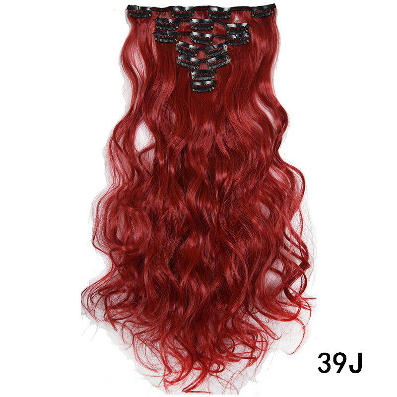 Affordable Synthetic Hair Fiber 50CM Body Wave Clip in Hair Extensions